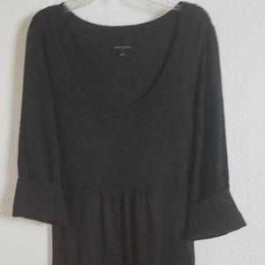 BANANA REPUBLIC CHARCOAL GREY POPOVER DRESS